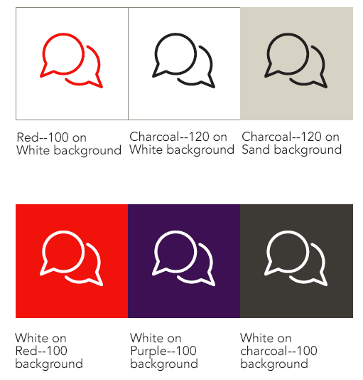icon color combinations - foreground and background